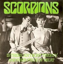 SCORPIONS Is There Anybody There 7 Inch Record Harvest SHAR 5185 Green Vinyl
