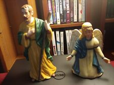 Traditions Nativity Joseph and Angel Replacement Pieces 1994