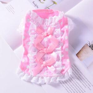 XXXS XXS XS Teacup Puppy Skirt Shirt Dog Dress Clothes for Maltese Cat  Yorkie