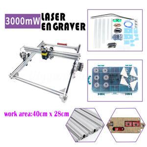 3000MW DIY High Precision Laser Engraver Print Marking Cutting Engraving Machine