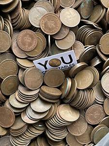 100 Half New Pence Decimal Coins -1/2 Penny- Queen Elizabeth II - FREE P&P BULK