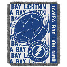 Tampa Bay Lightning Woven Jacquard Tapestry Throw Blanket Spread