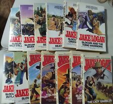 SLOCUM WESTERNS Lot JAKE LOGAN 13 Books Range From 103-205 Very Good Condition