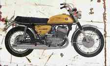Suzuki T500 Titan 1970 Aged Vintage SIGN A3 LARGE Retro