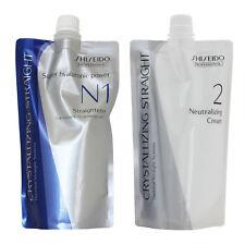 New Shiseido Crystallizing Straightner N1 + Neutralizing Cream set
