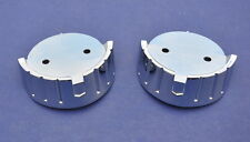 57 Chevy Hood Rocket Backing Plates *NEW* Pair 1957 Chevrolet HOOD ROCKETS BLEM