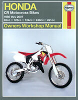 Honda CR80 CR85 CR125 CR250 CR500 Motos De Motocross 86-07 Haynes Manual 2222