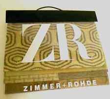 ZR Zimmer Rohde Upholstery Fabric Swatch Sample Book Velvet Beige White Red Gray