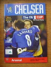 25/03/2003 Chelsea v Arsenal [FA Cup Replay] .  Any faults with this item will h
