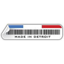 MADE IN DETROIT CAR STICKER 150mm wide / USA hotrod