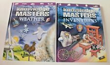 2 X Amazing Knowledge Masters Children's Educational Books Weather & Inventions