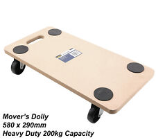 Heavy Duty Mover's Dolly 580 X 290mm Platform Movers Furniture 200kg Capacity