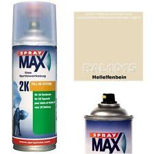 2K Lackspray RAL 1015 Farbe HELLELFENBEIN Glänzend Sprühfarbe Acryllack 400ml