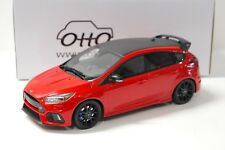 1:18 Otto Ford Focus RS 2017 Red/Black Limited 999 PCs New en Premium-modelcars