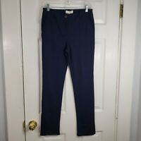 TALBOTS Size 6P 6 Petite Navy Blue Soft Skinny Stretch Leg Pants Work Casual