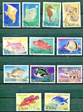 Tropical Fish Guinea #795 - 806 (CTO) Complete Set of 12 Stamps $4.95 Retail Val
