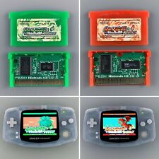 Pokemon Leaf Green & Fire Red Nintendo Game Boy Advance GBA Import AUTHENTIC