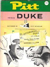 1959 PITT PITTSBURGH PANTHERS DUKE BLUE DEVILS BICENTENNIAL PROGRAM TICKET DITKA