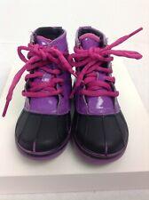 Crocs Youth Child Sz C9 Purple/ Black Rain Boots