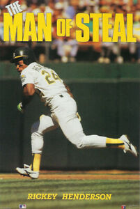 1990 Rickey Henderson Man of Steal poster Costacos MINT Factory Sealed NEW A's
