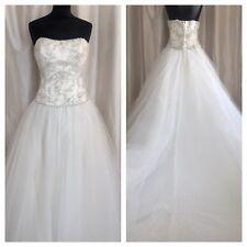 NEW Ronald Joyce Ballgown Princess Embellished Wedding Dress Ivory Size 14