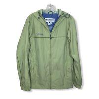 Columbia Women's  Rain Jacket W Duckbill Hood Mesh Lining Light Green Size Large