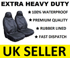 SSANGYONG EXTRA HEAVY DUTY CAR SEAT COVERS PROTECTORS X2 / WATERPROOF