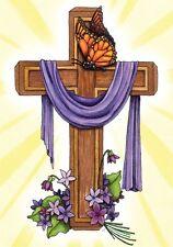 """Praise to the King Easter Garden Flag Religious Cross 12.5"""" x 18"""" Briarwood Lane"""