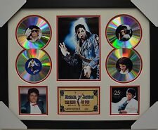 MICHAEL JACKSON  4CD SIGNED FRAMED MEMORABILIA LIMITED EDITION