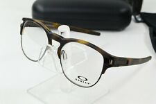 New Oakley Latch Key RX Matte Brown Tortoise Eyeglasses Round OX8134-02 52/17