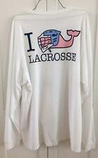 Vineyard Vines Boys Vineyard White I Whale Lacrosse LS Pocket XL 18 T-Shirt NWT