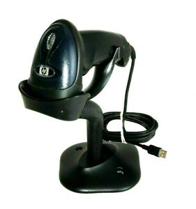 HP Laser Handheld USB Barcode Scanner LS2208-SR20361R WITH STAND P/N 417932-001