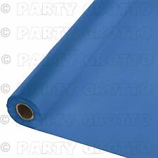 100ft Plastic Banquet Roll Party Catering Table Cover Cloth Tableware 19 Colours Bright Royal Blue