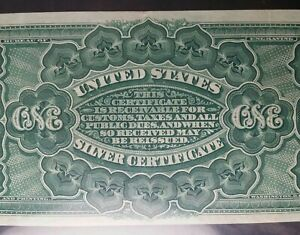 1886 $1 Silver Certificate Rosecrans/Huston Large Note PMG 35 EPQ