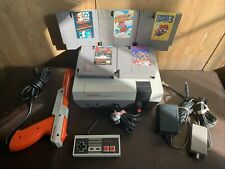 New 72 Pin Nintendo NES Original Console System Bundle Super Mario 1 2 3 Tested