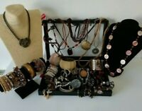 Bronze Brown Tones Costume Jewellery Necklaces Bracelets Bangle Job Lot Bundle