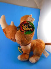 "Jungle Snubbies Rhinoceros Rhino 10"" x 12"" Large Eyes Toy Network MWT"