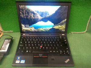 """12.5"""" Lenovo ThinkPad X230 Laptop i5-3320U 4GB DDR3 320GB HD Webcam UK keyboard"""
