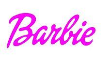 Barbie word Sticker / Decal Pink - Car Cute Vinyl 200mm