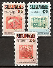 Suriname - 1988 Stamp expo Filacept - Mi. 1274-76 VFU