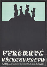 Original Vintage Poster Czech Film Movie Cinema Selective Kinship 1970s Profile