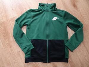 NIKE boys green zip thru tracksuit jacket jumper AGE 12 - 13 YEARS authentic