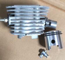 "80cc motor engine parts - Short intake cylinder silver w 1 1/16"" piston & rings"