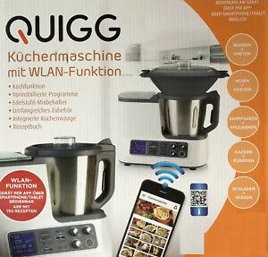 Quigg Küchenmaschine mit WLAN Funktion Kochfunktion Waage App Smartphone Neu