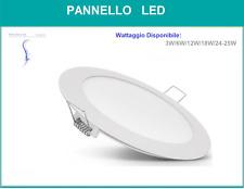 PANNELLO LED LUCE NATURALE 3W 6W 12W 18W INCASSO ROTONDO PANEL LIGHT