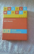 Puzzle Master Deck OF 75 Mind Bogglers by NPR PUZZLEMASTER WILL SHORTZ 2006