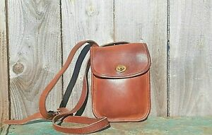 VTG COACH #9978 COGNAC LEATHER SIDE PACK CROSSBODY SHOULDER BAG