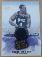 2001-02 Fleer Showcase Best of the West #6 Chris WEBBER