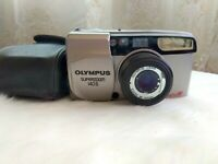 Olympus superzoom 140S Multi AF 35mm point & shoot film camera with case
