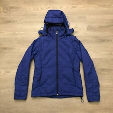 REI Primaloft Pertex Womens Blue Lightweight Insulated Jacket Hooded Size XS